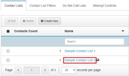 図は、編集の連絡先リストを開くをクリックする場所を示します。