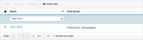 図は、コール可能な時間セット ビューで設定されたタイムセットを示しています