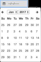 図は、日付だけを促すコントロールを示しています