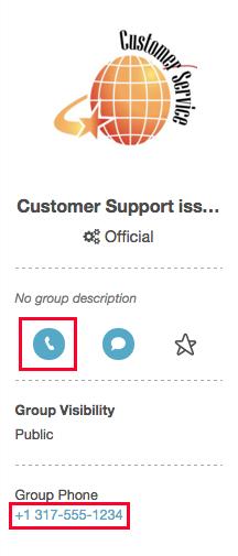 グループのプロフィールからグループをコールする