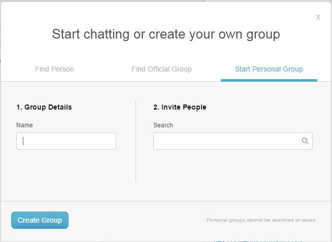 あなた自身の個人のグループを作成します。