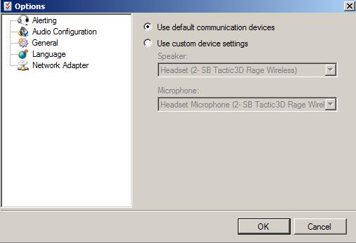 SoftphoneOptionsAudioConfiguration
