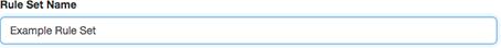 ルール セットの名前に使用するテキスト ボックスを図します。