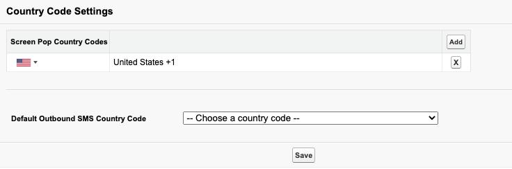 Salesforceの国コード設定