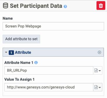 カスタム属性を使用して参加者データを設定する BR_URLPop