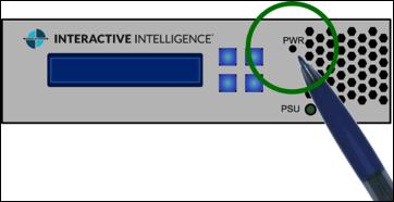 図はEdge Classicアプライアンスの電源インジケーターを示しています