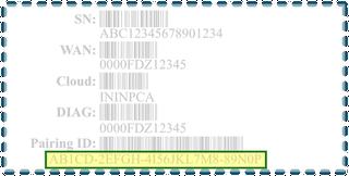 図は、エッジペアリングID番号とその他の情報を含むステッカーを示しています。