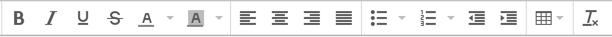 Eメールテキストエディタの画像