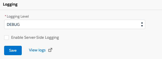 Salesforce共有設定のログセクション