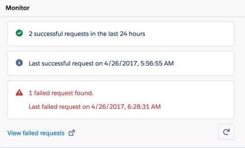 SalesforceでのPureCloudメールのルーティングの監視セクション