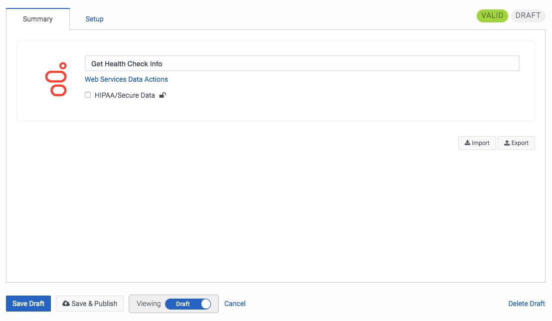 PureCloudの[アクションの概要の管理]タブ画面