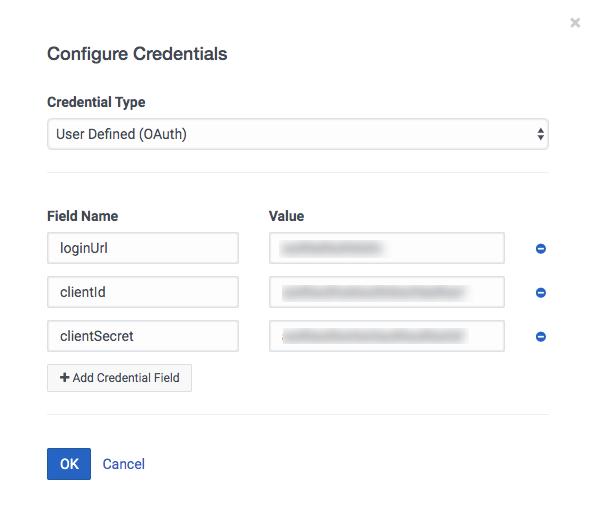 ユーザー定義の資格情報の構成 (OAuth)