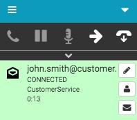 メールのやりとりが接続されている
