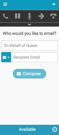 Eメール用の新しいインタラクションウィンドウ