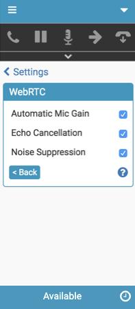 WebRTC電話用の高度なマイク設定